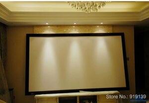 Image 5 - شاشة عرض سينمائية جيدة العرض 16:9 منحني إطار ثابت شاشات العرض 120 بوصة HD مات الأبيض دعوى لعرض السينما ثلاثية الأبعاد