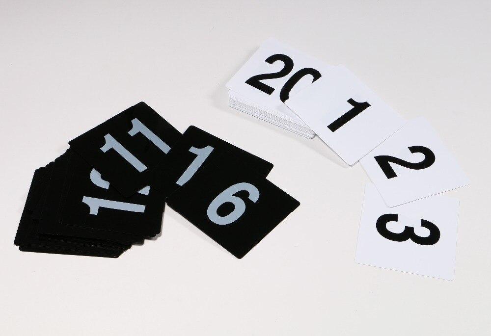 100*95mm Drink Store Digital Number Seat Card Desk Sign Signage Label Plate PVC Restaurant Table Serial Number Tags Plastic Sign