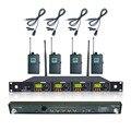 U4-OK-1B-LM-9703 Professional Four Channel UHF 4 Tie Clip Lavalier Wireless Microphone Mic System