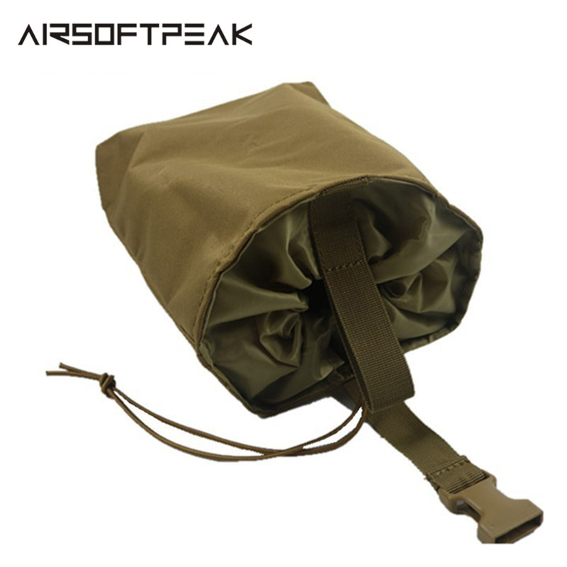 AIRSOFTPEAK Molle Tactical Magazine Pouch DUMP Drop Pouches Bag Nylon Recovery Case For Hunting Folding Mag Recovery Dump Bags