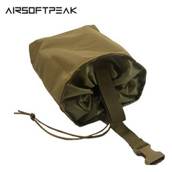 AIRSOFTPEAK Molle Tactical Magazine Pouch DUMP Drop woreczki torba Nylon Recovery Case do polowania składane Mag Recovery Dump Bags