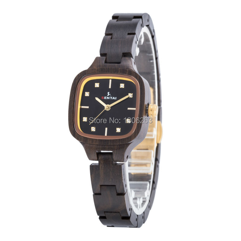New Top Brand Full Wood Watch Women Luxury Brand New Natural Quartz Wooden Bamboo Watch Women Clock Wood Watch With Diamond forsining automatic tourbillon men watch roman numerals with diamonds mechanical watches relogio automatico masculino mens clock