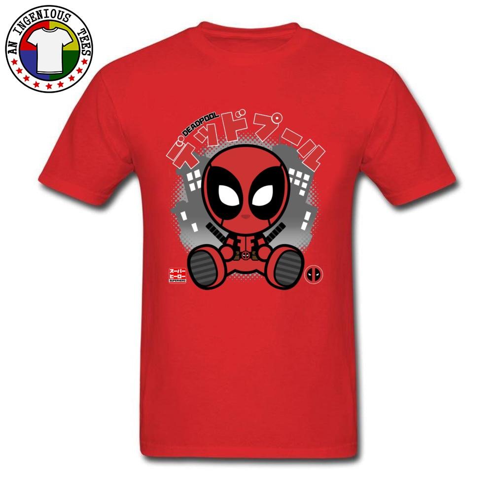 Deadpool Chibi 1226 T-Shirt Graphic Short Sleeve Casual Pure Cotton Crewneck Mens Tops T Shirt Customized Tshirts Summer Deadpool Chibi 1226 red