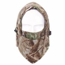 Для мужчин Для женщин Зимние флисовые плотные теплые головные уборы полный маска шеи Теплее Балаклава Лыжный Сноуборд открытый camo-камуфляжная шапки CS