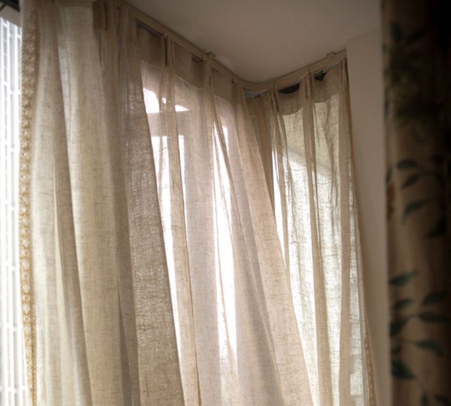 Aliexpress Buy Hot Sale Natural Nostalgia Curtains For Living Room Linen Sheer Finished Quality Product Voile From