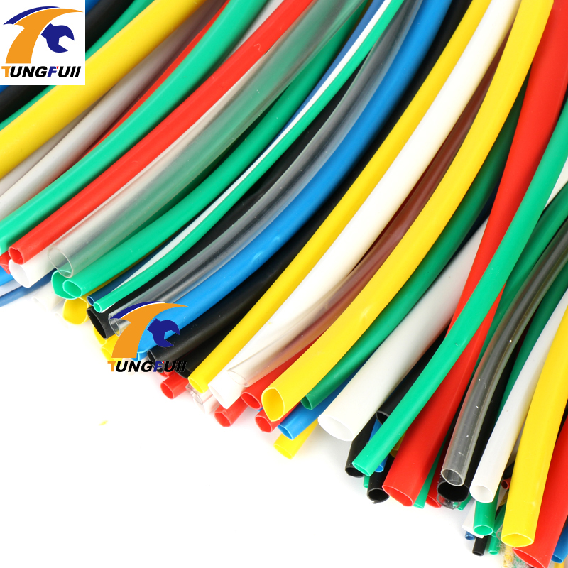 High quality 140pcs 7color Assortment 2:1 Heat Shrink Tube Tubing Sleeving Wrap Wire Cable Kit heat shrink tub heat shrink conne недорого
