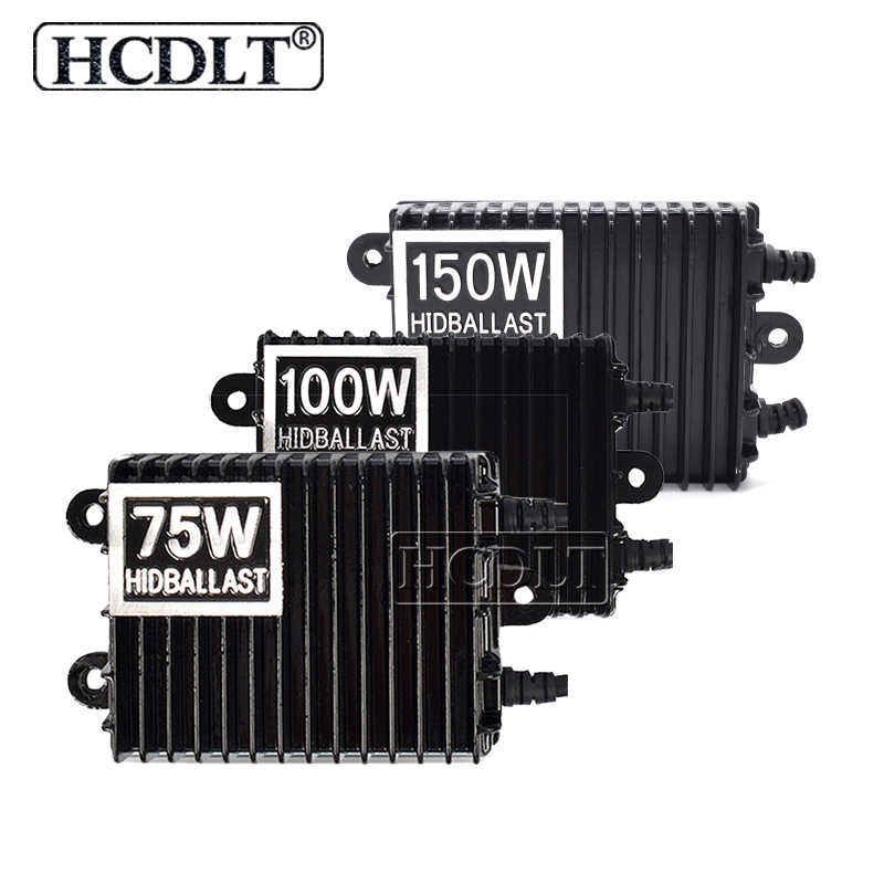 HCDLT High Power 75W 100W 150W HID Xenon Ballast AC 12V Car Light Xenon HID Ballast For Car Headlight Kit H1 H7 H11 HB3 HB4 D2H