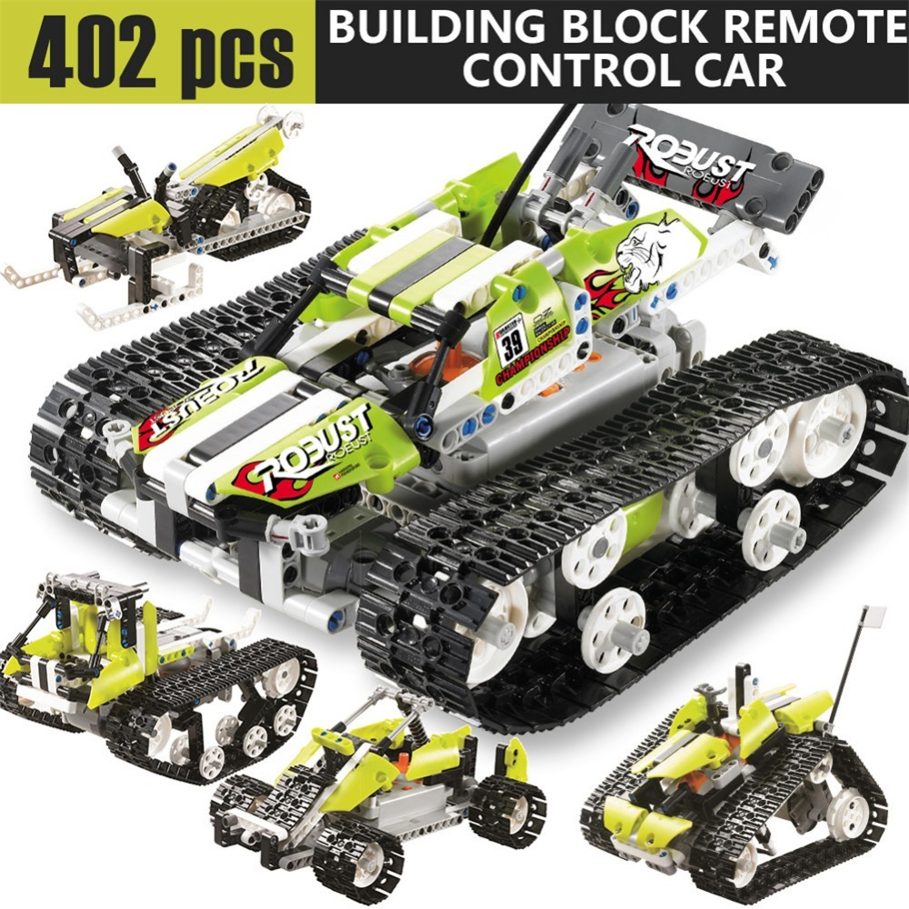 402Pcs Block SDL 2017A-31 2 Channels DIY Building Block Remote Control Tank Best Toys Gift for Kids Smart Remote Control Toy