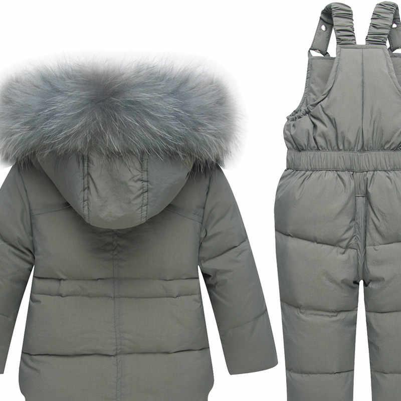 Doudoune pour enfants bébé et jeunes enfants épais nouveau costume modèle court garçon fille peut ouvrir grand col de cheveux ceinture arrière costume vers le bas