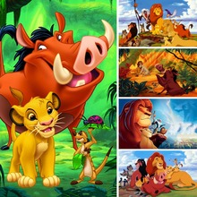 Diamond Painting Lion King Full Square 5d Diy Diamant Wild Boar Embroidery Cartoon Plant Home Decor Gift X37