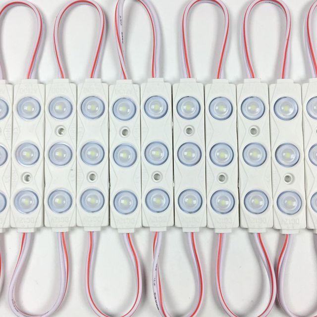 10 יח'\חבילה, חדש 2835 3LED הזרקת led מודול 12 V עם עדשה עמיד למים IP66, 160 תואר 1.5 W לבן, LED סימן, חנות באנר, בהיר
