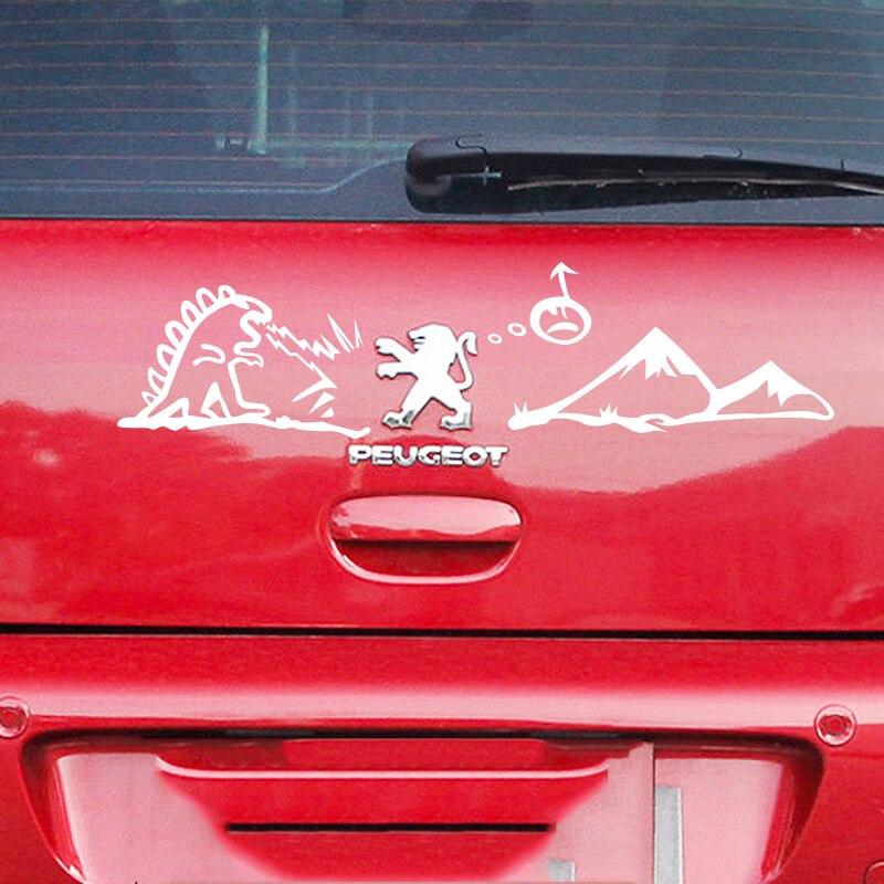 Смешной логотип мультфильм декор наклейки для Peugeot,светоотражающие автомобиля наклейки на хвост ,личность стайлинга автомобилей винил клей стикер