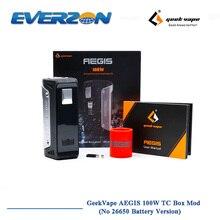Оригинальный geekvape Aegis 100 Вт TC поле mod IP67 Класс самую устойчивую VAPE мод 18650/26650 Батарея для электронной сигареты танк распылителя