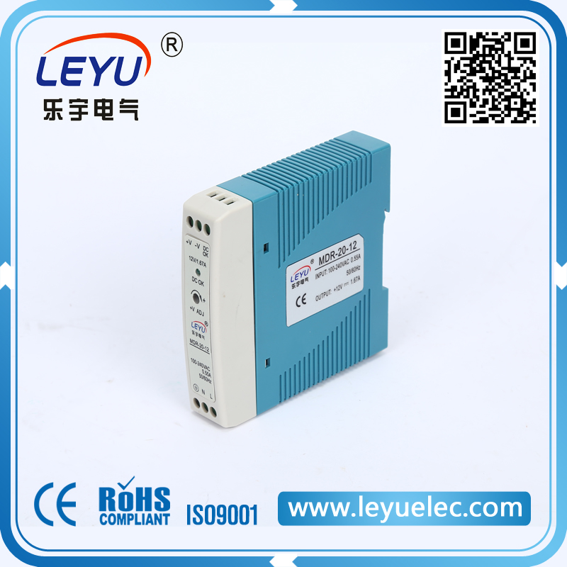 CE RoHS approved Small size Din Rail type 24VDC power supply MDR-20-24 24W 1A switching power supply 10pcs lot tc4420cpa tc4420 dip new original free shipping