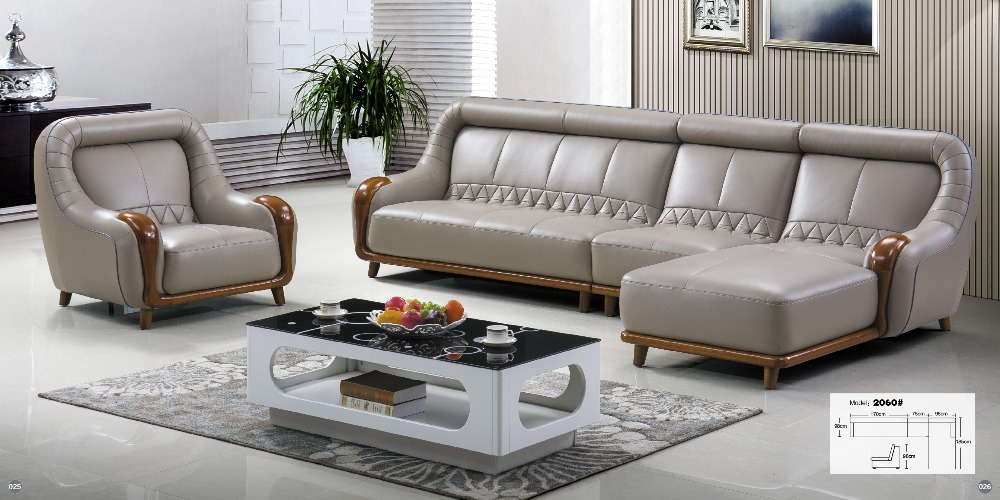 Living room furniture modern u shaped leather fabric for U shaped living room