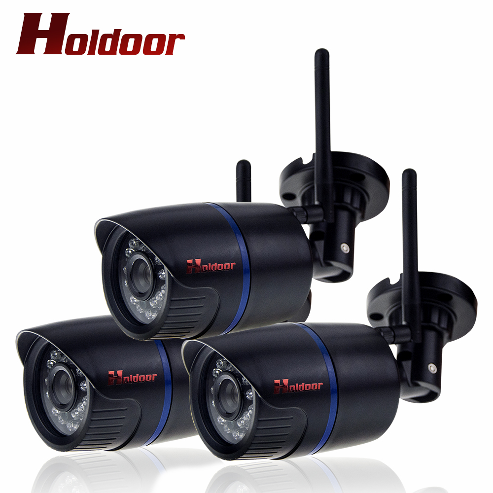 3 PCS  Wireless 1080P HD 2.0MP IP Camera WIFI Onvif 2.0.4 P2P IP65 Waterproof Support 64G SD TF Card 15m IR Night Vision IP Cam household bullet ir hd 1080p ip camera wifi p2p onvif waterproof camera support sd card