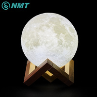 3D Print LED Moon Night Light Touch Switch LED Bedroom Night Lamp Atmosphere Novelty Christmas Light