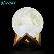 3D Print LED Moon Light Touch Switch LED Bedroom Night Lamp Novelty Light for Baby Kids Children Christmas Home Decoration(China)