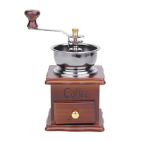 Cafetera Coffee Mill Wooden And Metal Design Retro Mini Manual Coffee Grinder Hand Antique Handmade Bean