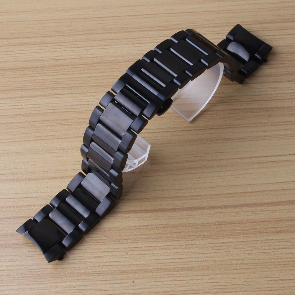 Mixed color bright and matte stainless steel Watchbands metal butterfly buckle deployment 22mm solid links curved end for S3 men rakesh kumar tiwari and rajendra prasad ojha conformation and stability of mixed dna triplex