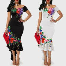Платье с цветочным рисунком модное женское платье открытыми