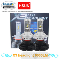 Eseastar 2PCS H4 Car LED Headlight Bulbs G8SX 100W 12000LM High Low Light Xenon HID Light