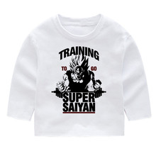 Dragon Ball Training To Go Super Saiyan Kid's Fashion Long Sleeve T-shirts Kid's Long Sleeve Tops Baby Girl Harajuku Clothes сумка printio training to go super saiyan