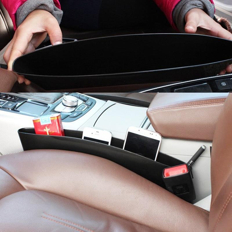 Купить с кэшбэком EDBETOS Car-Styling Car Trunk Seat Gap Pocket Holder Storage Pouch Phone Purse Coins Key Car Seat Organizer Car Accessries Boxes