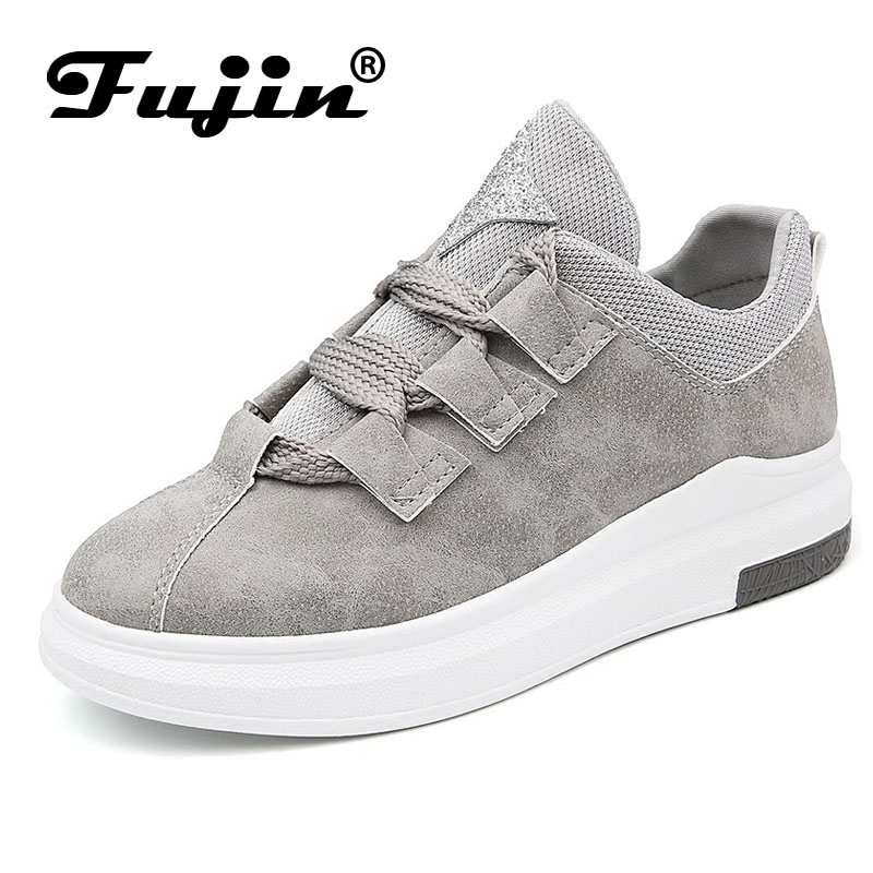 Fujin Brand 2018 women new arrival sneakers Breathable Round Toe Casual Shoes Student Platform Shoes Flats Lace Up Ladies Shoe fashion women casual shoes breathable air mesh flats shoe comfortable casual basic shoes for women 2017 new arrival 1yd103