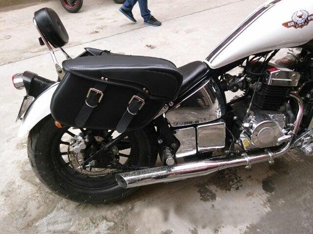 Högkvalitativ Vattentät Hard Leather Motorcykelväska Sadelväskor - Motorcykel tillbehör och delar - Foto 2