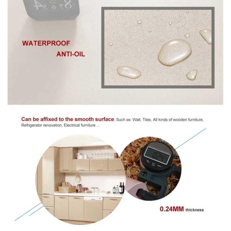 DIY декоративная пленка ПВХ самоклеющиеся обои мебель ремонт наклейки кухонный шкаф водонепроницаемые обои
