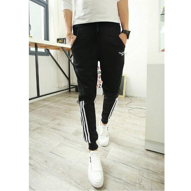 Бегуны sarouel бросился 2015 мужчины брюки хип-хоп свободные тренировочные брюки случайных брюки печати брюки мода pantalones
