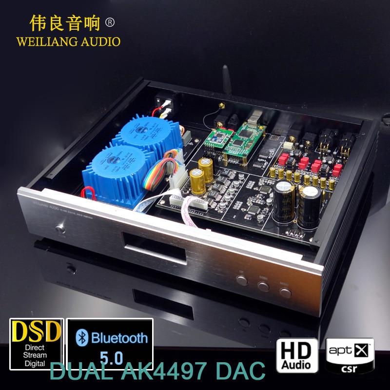 2019 HiFi DUAL AK4497 XMOS XU208 Bluetooth 5 0 DAC Decoder Support DSD256 PCM384K