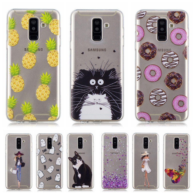 A6 Case on For Coque Samsung Galaxy A6 2018 Case Slim Silicone Cover For Fundas Galalxy A6 Plus A6+ 2018 Soft TPU Phone Cases