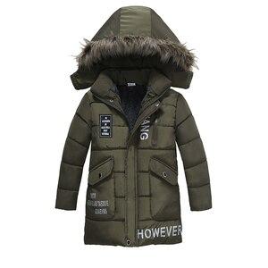 Image 3 - Ciepłe pogrubienie zimowe futro kołnierz dziecko płaszcz dziecięca odzież wierzchnia wiatroszczelne chłopięce dziewczęce kurtki dla 3 8 lat