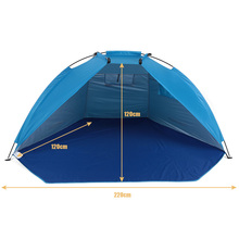 TOMSHOO Outdoor Beach Tents Shelters Shade UV Protection Ultralight Tent for Fishing Picnic Park