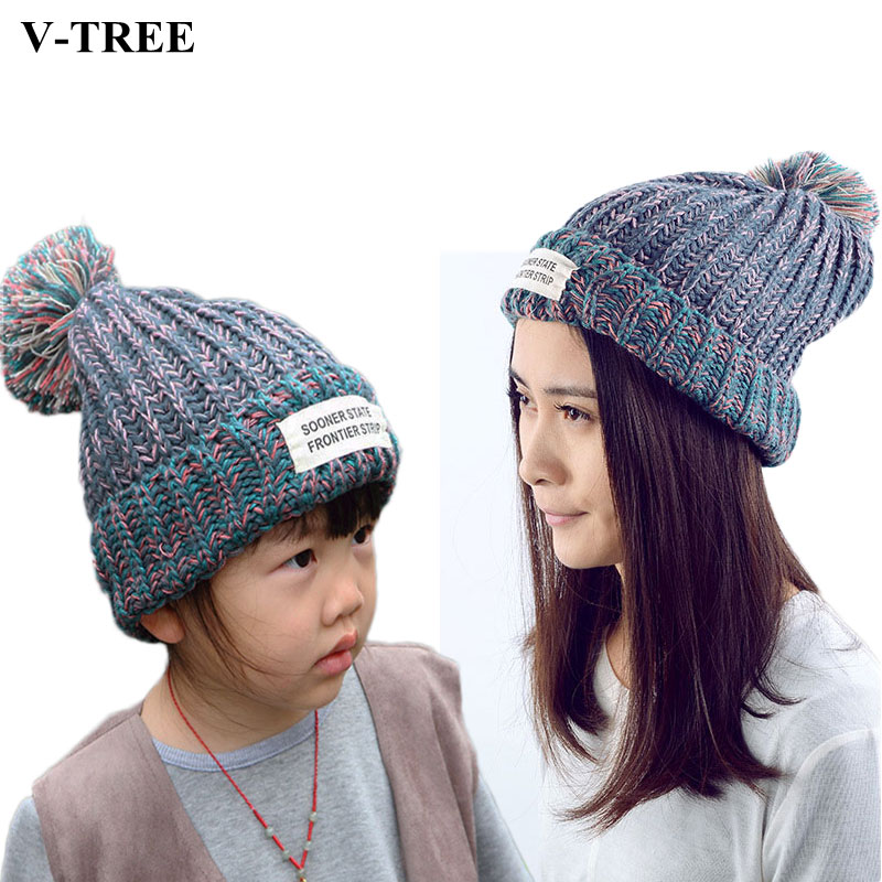38b5695f71f Matching Family Outfits Mother Son Hats Winter Warm Hats For Baby Mother  Father Baby Caps Colored Children Hats Mom Son Clothes-in Matching Family  Outfits ...