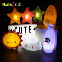 Novelty Cloud Smile Face Led Night Light Sun Moon Star Night Lamps Bedroom Nursery Mini