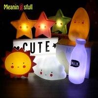 Novelty Cloud Smile Face Led Night Light Sun Moon Star Night Lamps Bedroom Nursery Mini