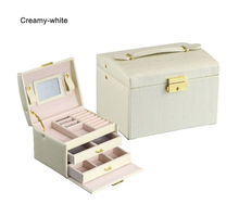 Three Layers White High Quality PU Leather Packaging & Display Box Elegant Jewelry Storage Box Organizer Container Gift Box high quality pu leather three layer double drawer jewelry box jewelry display jewelry storage gift box