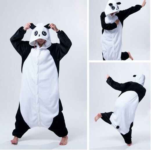 Cosplay Anime Animal Kung Fu Panda Onesie Adult Women Female Men Unisex Fleece Pajamas Halloween carnival Costumes Plus Size