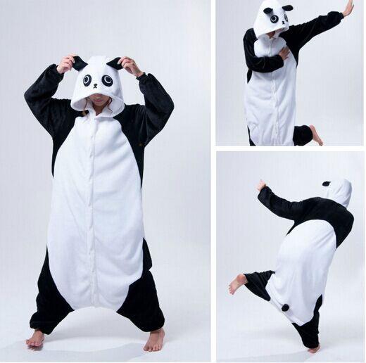 cosplay anime animal kung fu panda onesie adult women female men unisex fleece pajamas halloween carnival - Kung Fu Panda Halloween