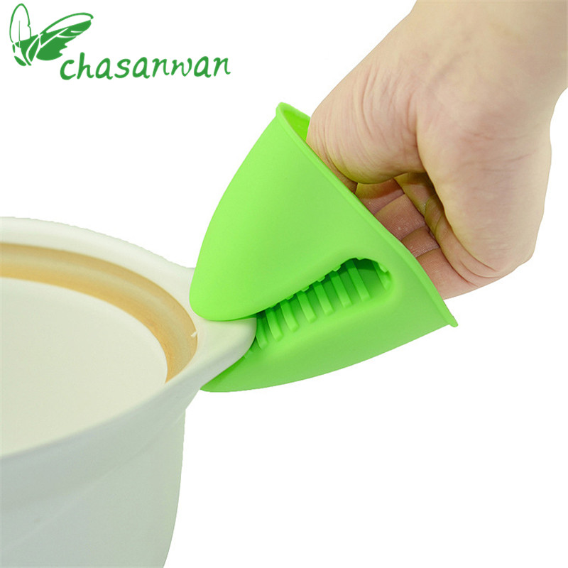 1Pc Kitchen Accessories Silicone Finger Sets of Anti-hot Kitchen Tools Microwave Insulation