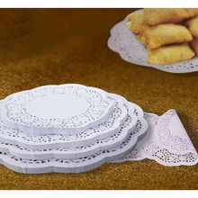 140pcs Oil Absorbing Paper Party Lace Paper Doyleys Catering Wedding Round For Desserts French Fries Cakes Bread