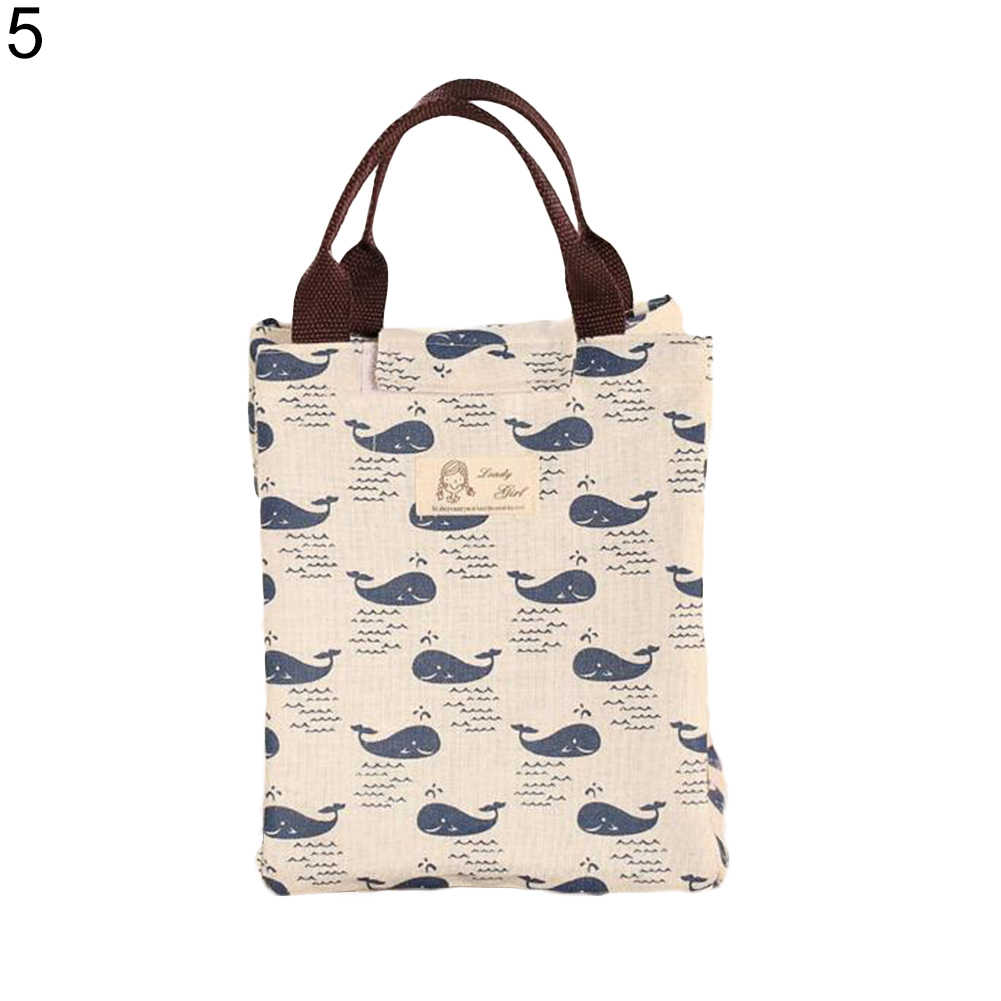 Durável funcional padrão refrigerador lancheira portátil isolado lona saco de almoço comida térmica piquenique almoço sacos para as crianças