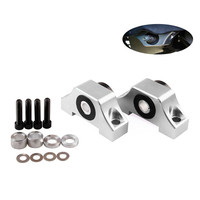 Car Engine Motor Torque Mount Kit For 1992 2000 Honda Civic D15 D16 B16 B18 B20 High Quality Aluminum Alloy Silver/Black/Red