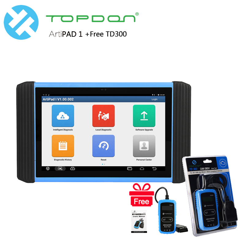TOPDON diagnostic tool professional ecu programmer & coding Artipad 1 with Gift TOPDON TD300 obd2 Car diagnostics