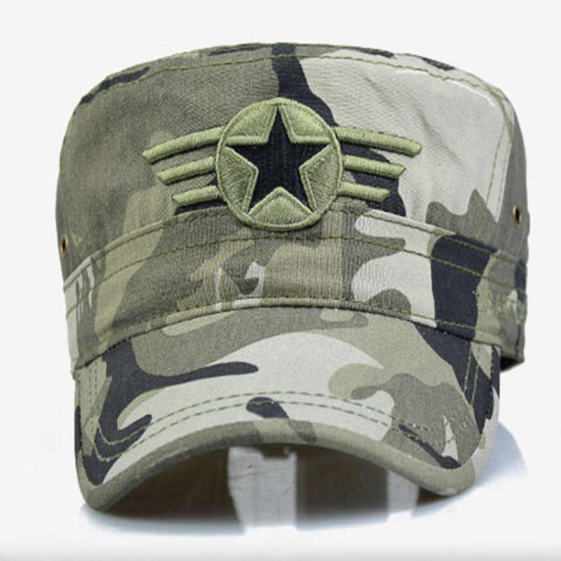 931f56c2f0337c ... MNKNCL 2019 New Men Snapback Caps Vintage Army Hat Cadet Patrol Cap  Adjustable Five Pointed Star ...