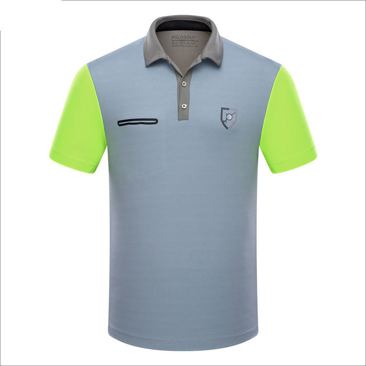 Branded Polo Golf sports men shirts summer thin short sleeve splice breathble quick dry golf t shirt for men gray blue pink XL ...