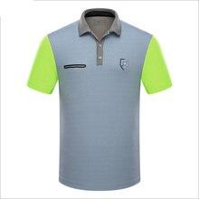 De marque polo de golf sport hommes chemises d'été mince à manches courtes splice breathble de golf à séchage rapide t chemise pour hommes gris bleu rose XL